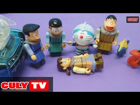 Doremon chế đồ chơi vui #2 - Xuka bị bắt cóc - nhóm Nobita đấu với Lego Ninjago cứu Shizuka Doraemon