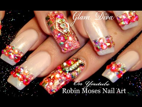 Nude Acrylic Nail Art Using Cover Pink Acrylics Tutorial Video By