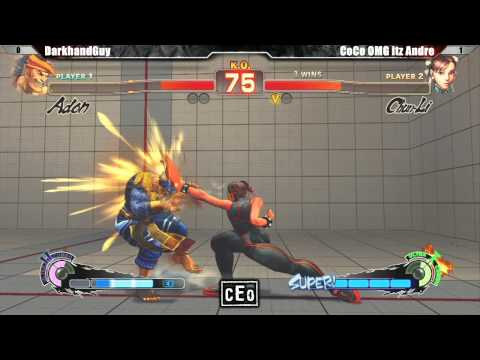 SSF4 AE2012 DarkHandGuy vs CoCo OMG itz Andre - CEO 2012 Tournament