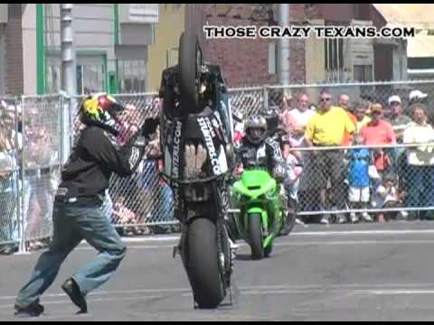 Crazy Motorcycle Wheelie Chinese Fire Drill