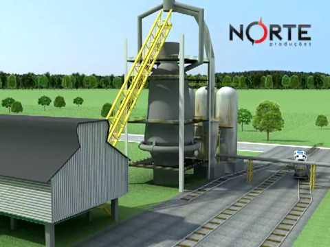 Animação 3D - Projeto Redução de Consumo de Gases em Alto Forno