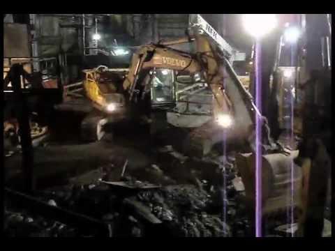 Demolidora Desmontec - Demolição e limpeza do Alto Forno da Cosipa
