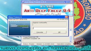 Desactivar O Descongelar Deep Freeze ( Cualquier Version