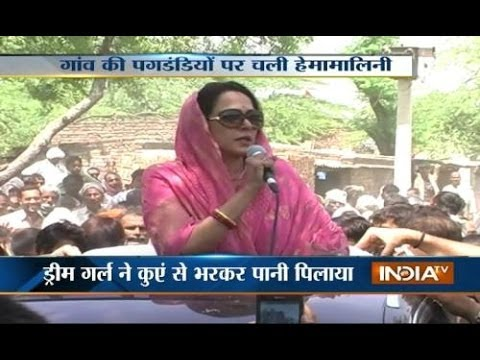 Watch Hema Malini's amazing way of campaigning for LS Polls
