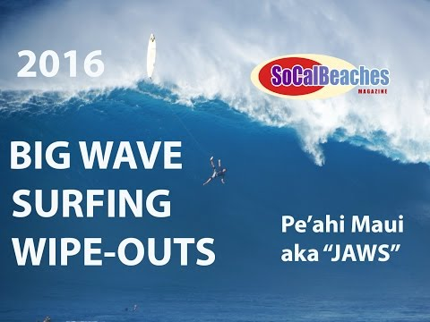 2016 BIG Wave Surfing Wipe Outs VIDEO Pe'ahi ''Jaws'' Maui