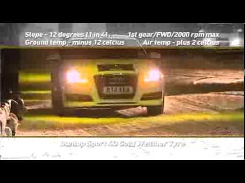 Dunlop demonstrates the Sp WinterSport 4D on a front wheel drive Audi A3