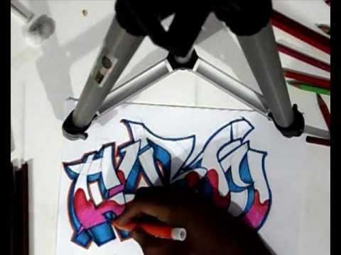 Vídeo Aula com Gene do Grafite 067 - Letra de Graffiti