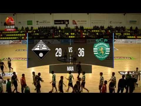 Andebol :: 6J Fase Final :: Águas Santas - 29 x Sporting - 36 de 2013/2014