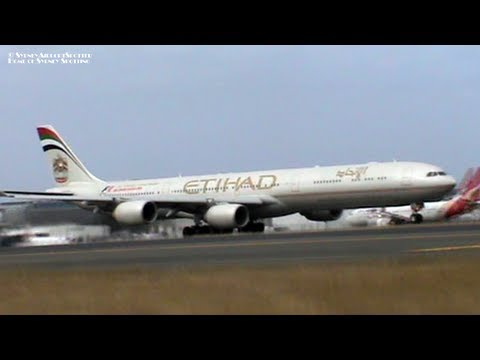 Etihad Airways Airbus A340-600 A6-EHL - Take Off at Sydney Airport SYD / YSSY