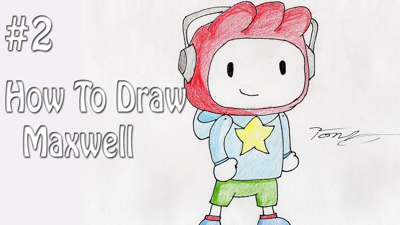 how to draw maxwell from scribblenauts youtube