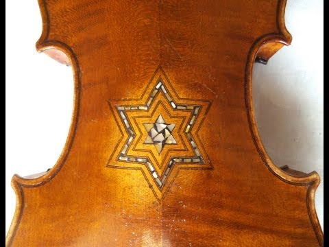 Beautiful old 4/4 violin with MOTHER OF PEARL inlays