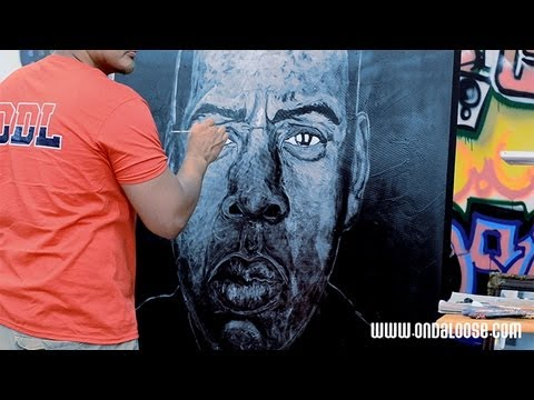 Jay-Z Magna Carta Painting by E Andaluz (On Da Loose)
