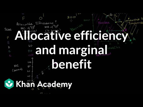 Allocative Efficiency and Marginal Benefit