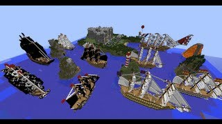 Minecraft 19 Awesome Ships ! ( Map In Download )