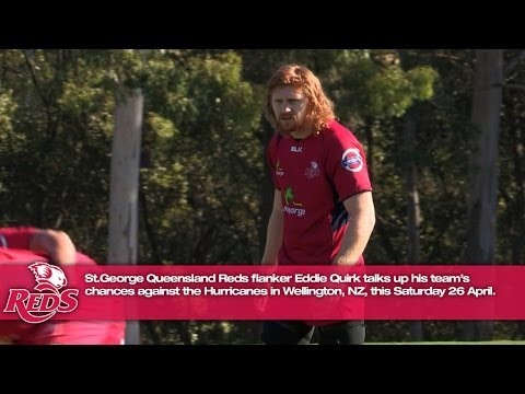 Eddie Quirk talks up the Reds chances against Hurricanes | Super Rugby video - Eddie Quirk talks up