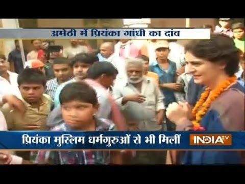 Priyanka Gandhi plays muslim card in Amethi