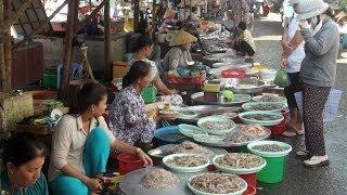 Vietnam Food Market in Mekong delta, Vietnamese food market