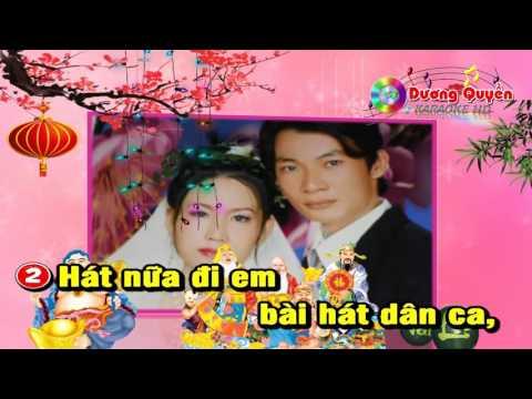 [Karaoke Nhạc Sống] Đêm Giao Thừa Nghe Một Khúc Dân Ca (Cha Cha Cha 2016) - Karaoke Dương Quyền
