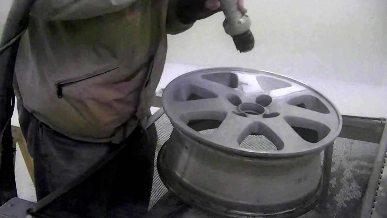 Soda Blasting Aluminum Wheels Removing The Paint Youtube
