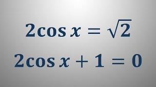 Trigonometrične enačbe 2