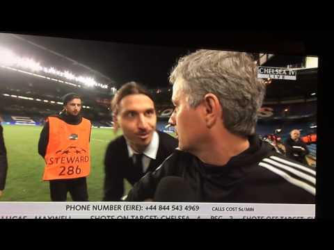 "Ibrahimovic wishes Mourinho ""good luck"" in the Champions Le"