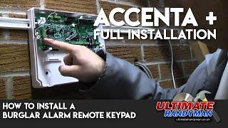 burglar alarm remote keypad Installation | Accenta +