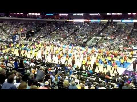 Zumba half time show at the mavericks 2014