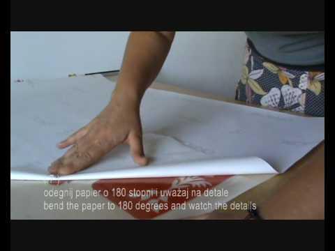 instrukcja naklejania naklejki na ścianę