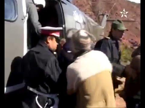مروحيات لإجلاء محاصرين بمناطق معزولة بإقليمي ورزازات وتنغير