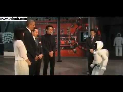 President Obama plays football with Asimo robot in Japan
