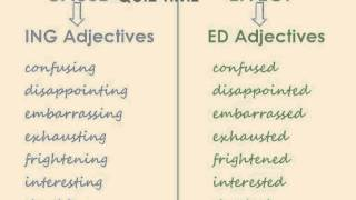 ED and ING Adjectives Video Lesson
