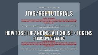 JTAG/RGH Tutorials How To Setup And Install Xbox Live