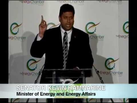 Trinidad and Tobago Energy Minister Kevin Ramnarine and BP plc CEO Bob Dudley talk natural gas