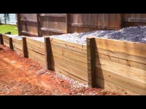 Retaining Wall Finished Youtube
