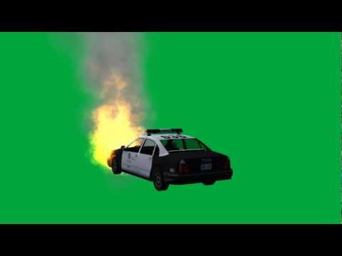 """police car on fire"" free green screen effects - bestgreenscreen -MVabq-uxY8c"