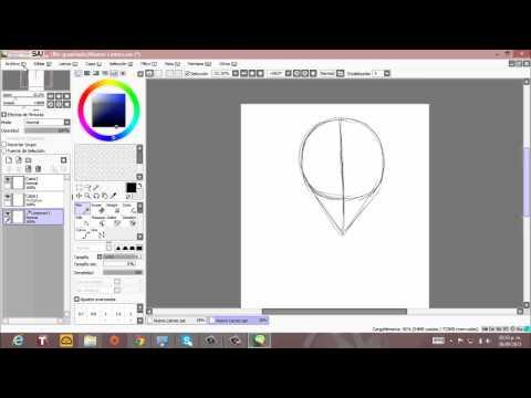 Tutorial dibujo Rosto  anime (paint tool sai)