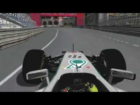 F1 2014 Monaco Grand Prix - Rosberg Onboard (rFactor)
