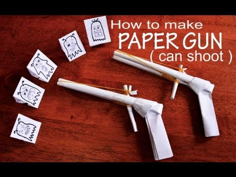 how to make a paper rubber band gun youtube