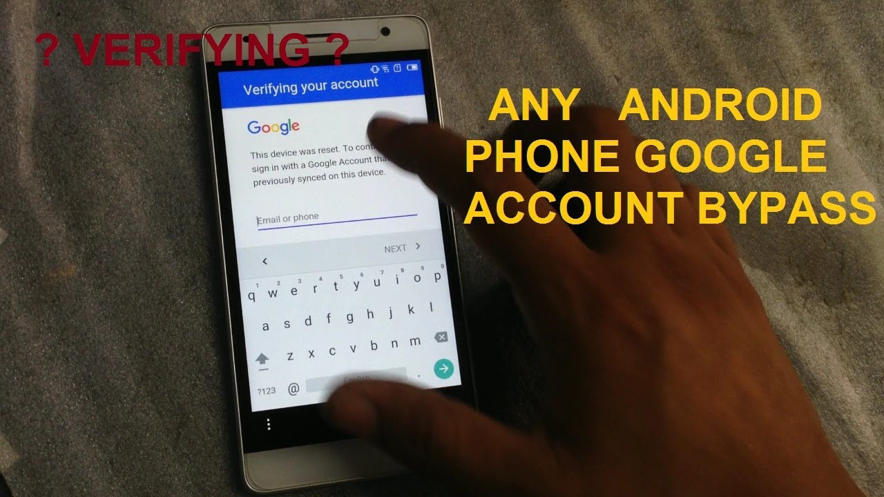 how to reset google account on android