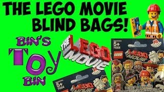THE LEGO MOVIE Blind Bags Minifigures Opening! By Bin's