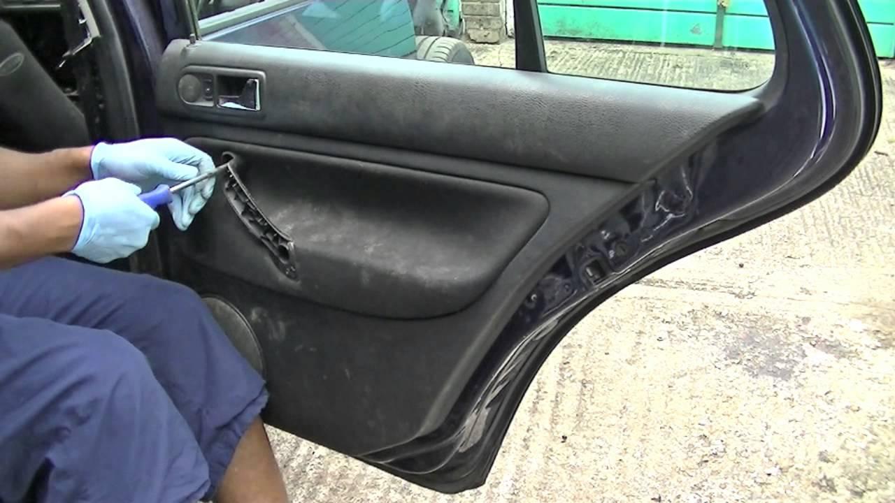 Vw Golf Jetta Rear Door Panel Removal Youtube