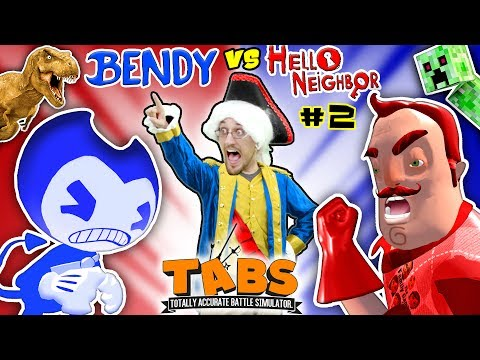 HELLO NEIGHBOR BEDTIME STORY Pt 2 TABS COMPETITION  BENDYS vs MART w MINECRAFT FGTEEVTHE END