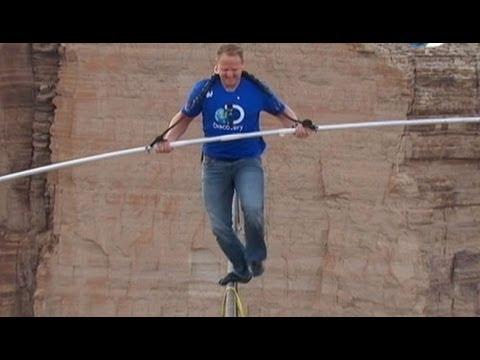 Nik Wallenda Crosses 1,500-Foot Grand Canyon Gorge on Tightrope