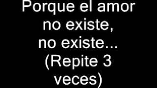 Plan B El Amor No Existe (original + Letra)
