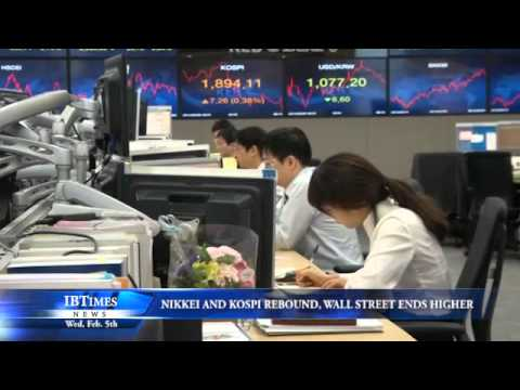Nikkei and Kospi Rebounds, Wall Street Ends Higher