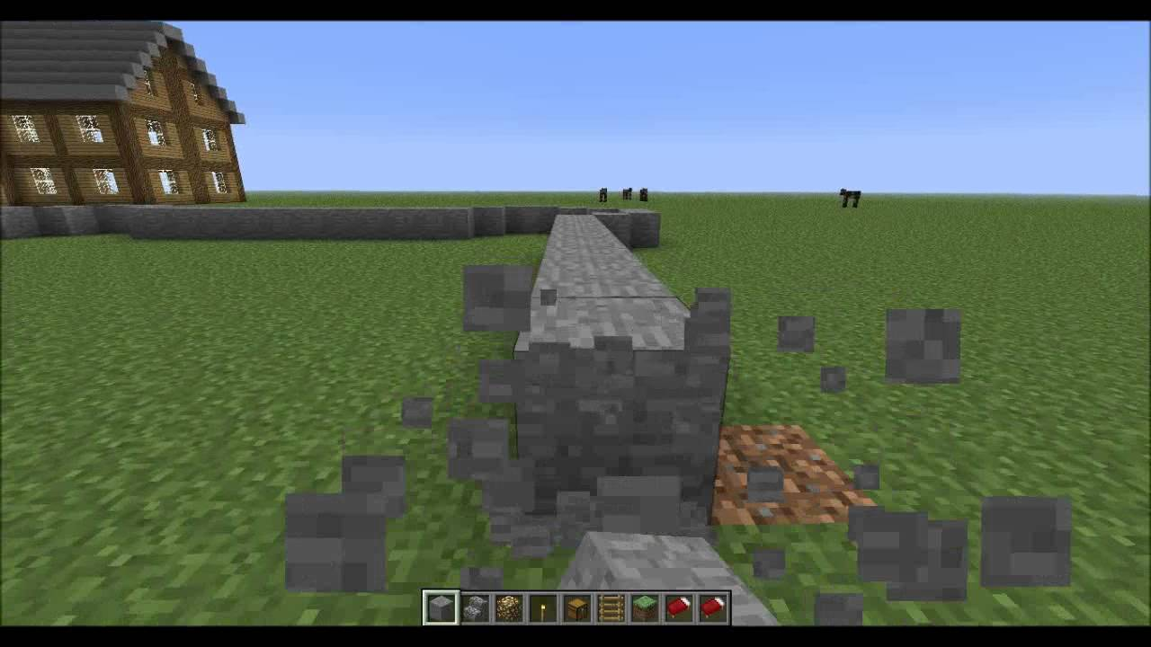 Lets play minecraft burg bauen teil 1 youtube