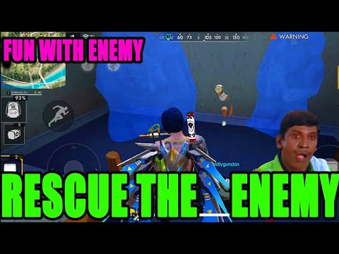 Rescue The Enemy in rank match|| Fun with enemy in free fire|| Run Gaming