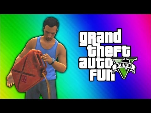 GTA 5 Online Funny Moments - Car Pile Explosion, Dump Truck Glitch, Would You Look at That!