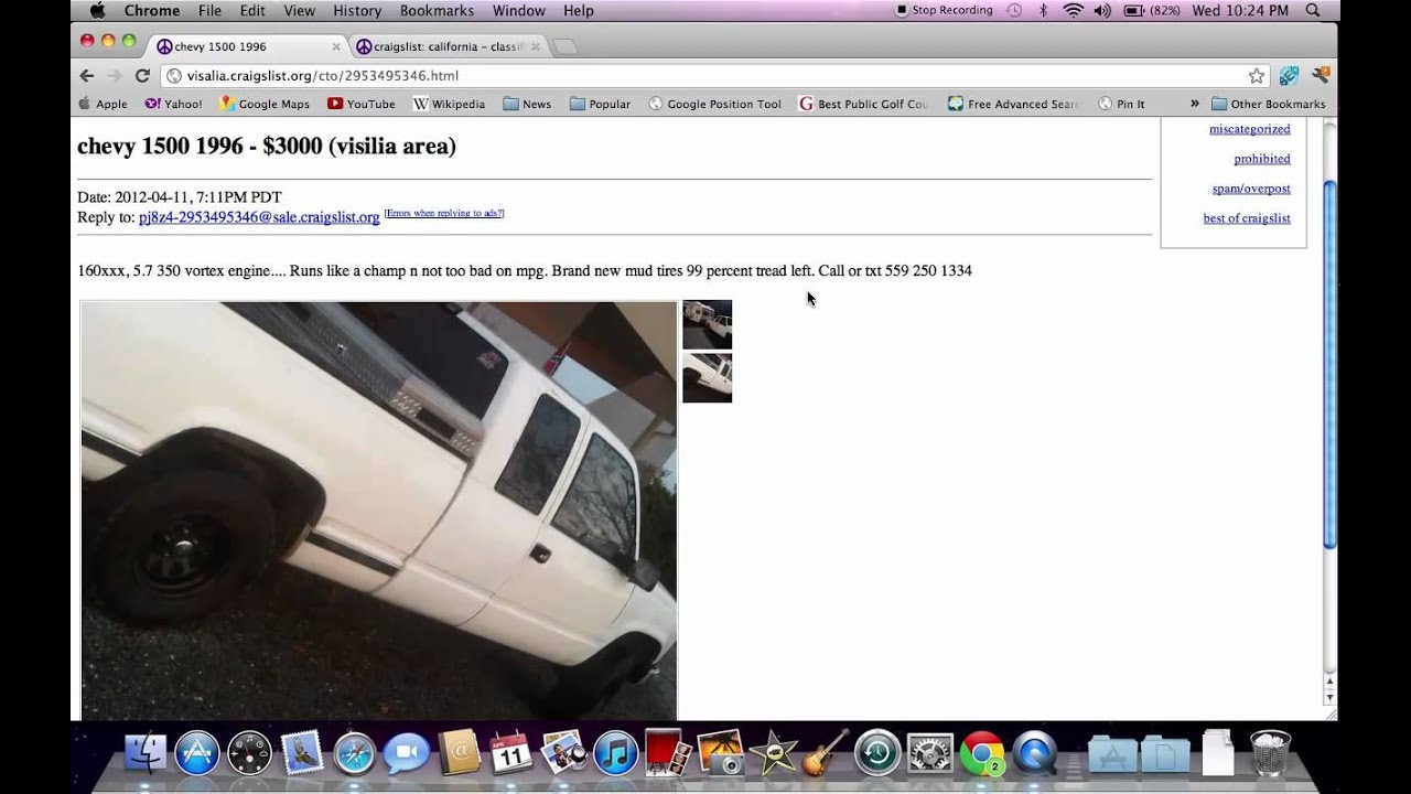 Visalia Tulare Cars Trucks By Owner Craigslist Autos Post