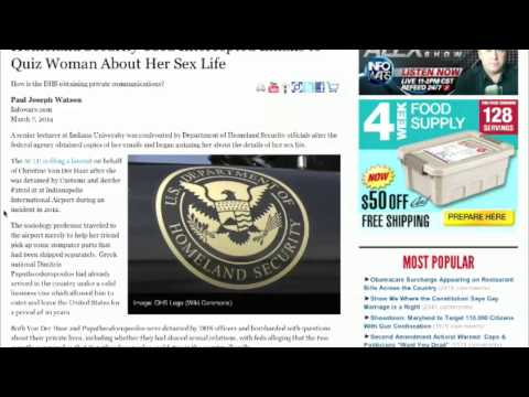 Homeland Security Questions Woman About Her Sex Life